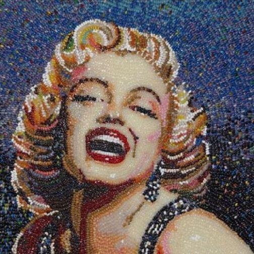 Jelly Bean Mosaic by San Francisco based artist Peter Rocha