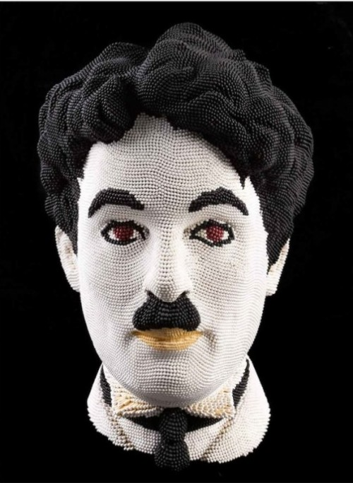 Charlie Chaplin Match sculpture by Scottish artist David Mach