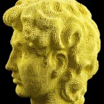 Andy Warhol inspired Match head sculptures of Marilyn Monroe. Work by Scottish sculptor David Mach
