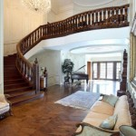 Staircase. 100 North Carolwood Drive home in Hollywood, auction on 17th December