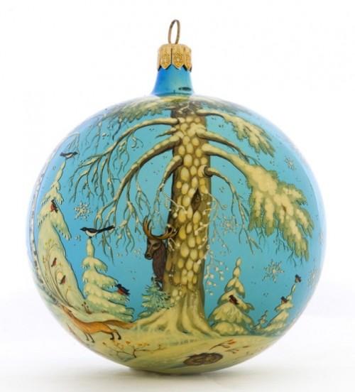 Glass Christmas tree balls of Village Holuy