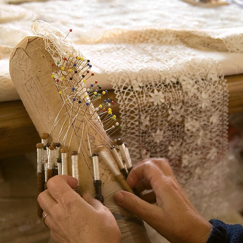 Lacemaking. Museum of lace, Vologda