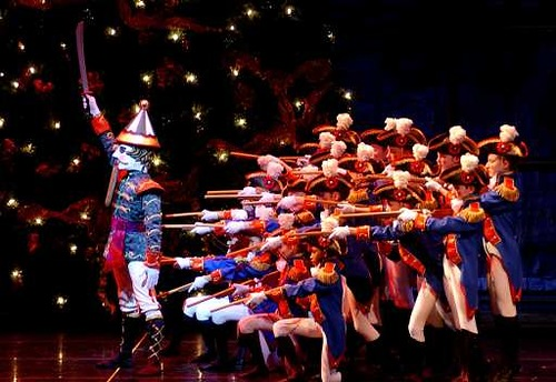 Pablo Perez, at left, who plays the Nutcracker-Prince, performs with other dancers during a dress rehearsal of the Carolina Ballet and North Carolina Symphony's Nutcracker
