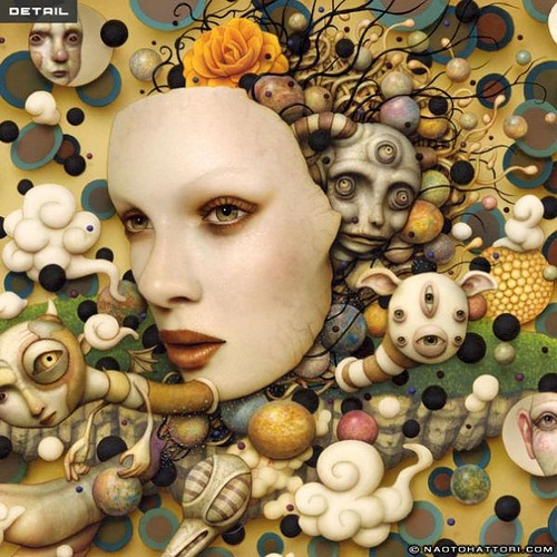 Painting by Japanese artist Naoto Hattori