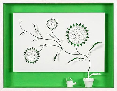 Paper art by French artist Daniel Mar