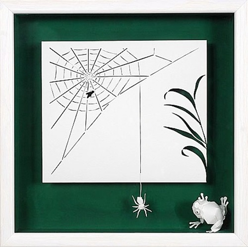 A spider. Paper art by French artist Daniel Mar
