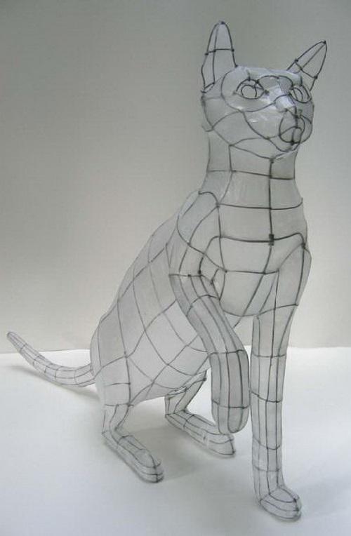 Fragile sculptures by Polyscene