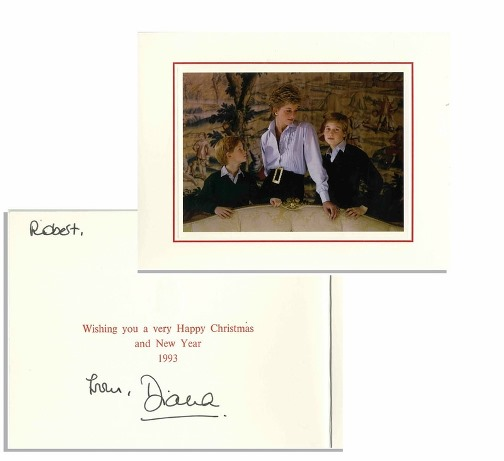 Princess Diana 1993 Christmas card to Robert