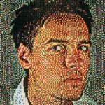 Self-portrait. American artist Eric Colin Daigh
