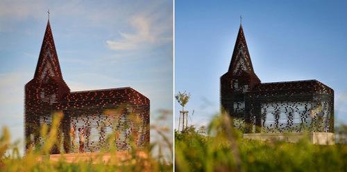 Reading between the Line church designed by Belgian architects Pieterjan Gijs and Arnout Van Vaerenbergh