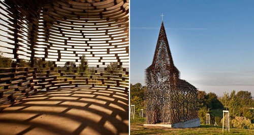 Reading between the Line church designed by Belgian architects Pieterjan Gijs and Arnout Van Vaerenbergh