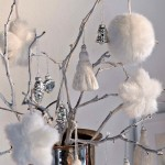 Fur and textile decorations, white dominates