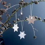 Pine cones and paper stars