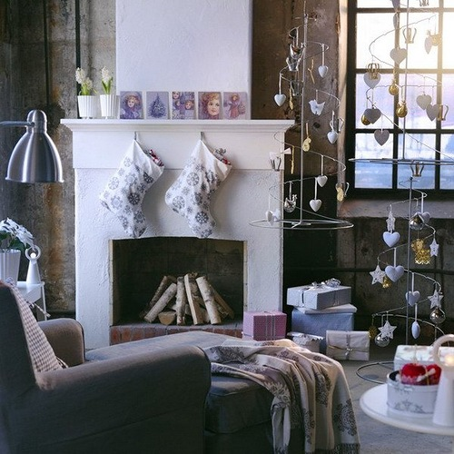 Unique Scandinavian style Christmas home decorations