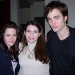Rob and Kristen with Stephenie Meyer