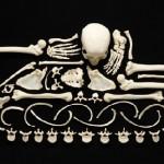 "Creative project ""Stop Violence"". Art Made From Human Bones. Photographer Francois Robert, Switzerland"