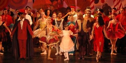 Dancers performing The Nutcracker ballet