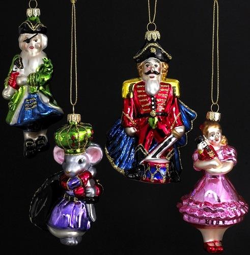 Beautiful Christmas decorations on The Nutcracker