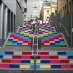 Beautiful Art installation Urban Knitting