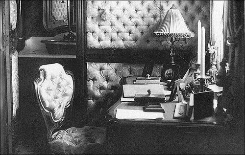 The compartment of Nicholas II