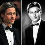 Tribute to handsomeness Brad Pitt and Alain Delon