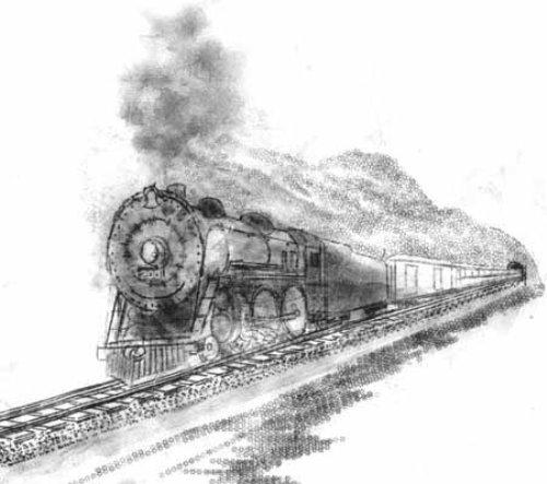 Train. Typewriter Art by Paul Smith