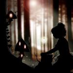 Fantasy silhouettes and Paintings by American artist Liza Lambertini