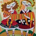 Thread painting by Eleanor Sidorova