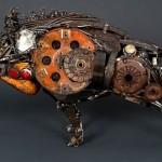 Metal sculptures by Australian artist James Corbett