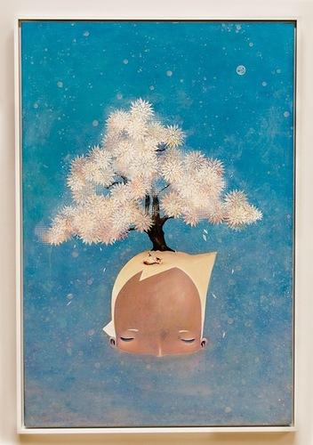 Painting by American-Japanese self-taught artist illustrator Yoskay Yamamoto