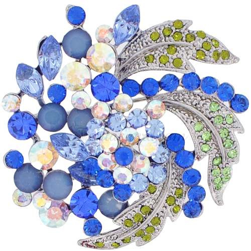 Decorated with sapphires brooch