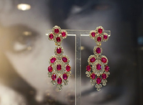 diamond and ruby earrings (estimated price $7,000-$9,000)