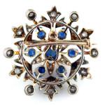 Gorgeous Sapphire brooch