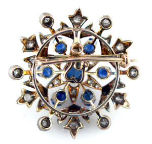 Gorgeous Sapphire brooch