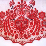 The main color of Russian traditional clothes - red