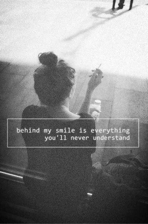 Behind my smile