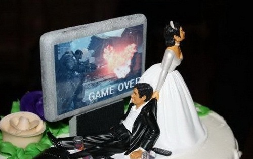 Game over Creative Wedding Cakes