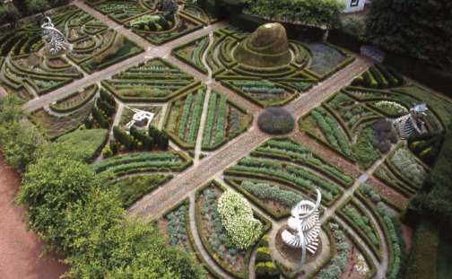 The Garden of Cosmic Speculation is at Portrack House, near Dumfries in South West Scotland. It is a private garden created by Charles Jencks