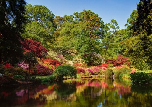 Exbury Gardens, Hampshire, England, which belongs to a branch of the Rothschild family