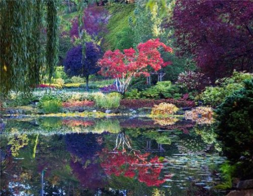 Most Beautiful Gardens in the World. The Butchart Gardens, Brentwood Bay, British Columbia, Canada