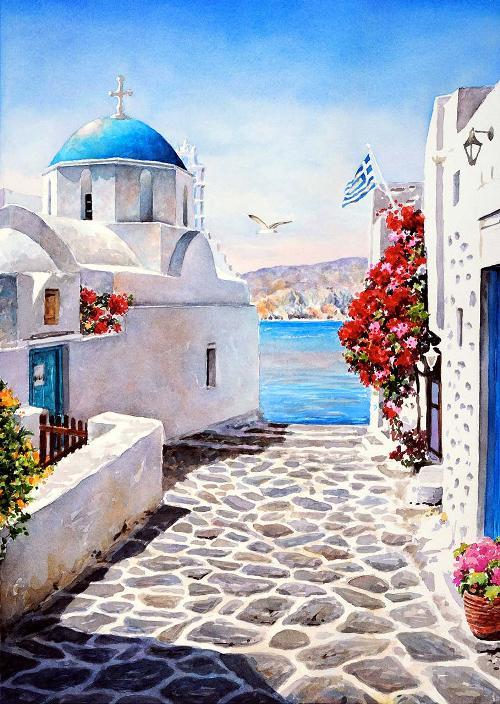 paintings by Pantelis Zografos