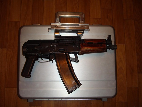A gun suitcase based on AKS-74U, it lets transport secretely the gun such as AKS – 74U or a hunting semi-automatic carbine Vulkan – TK 5,45х39.