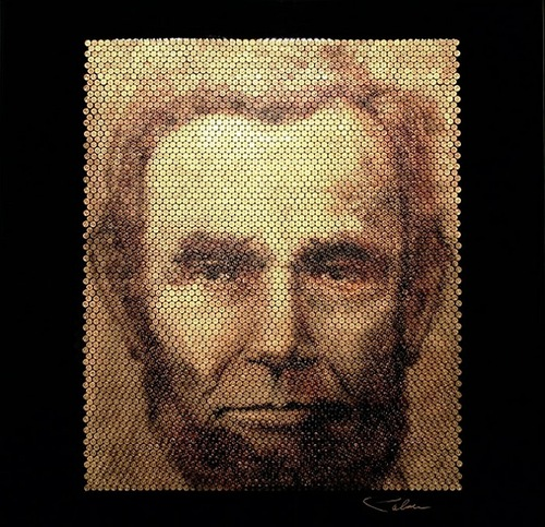 Abraham Lincoln. Bullet portraits by David Palmer