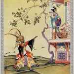 "illustration by Virginia Frances Sterret, 1928, shows the ""Chinese"" setting of the original tale"