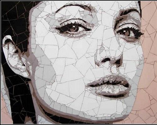 Angelina Jolie. Beautiful Mosaic portraits by Ed Chapman