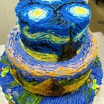 Awesome starry night wedding cake