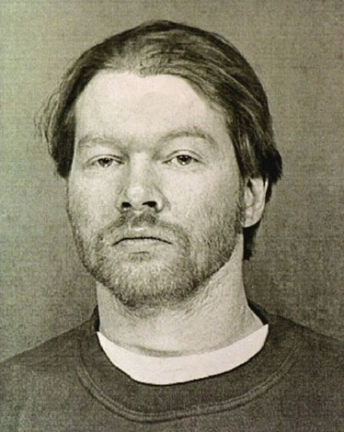 Guns N' Roses lead singer Axl Rose, arrested by Arizona cops in February 1998. Charged with verbally abusing an employee of Sky Harbor Airport in Phoenix