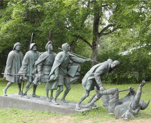Monumental sculpture by Alexander Taratynov. Blind. P.Breygel