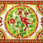 Traditional Russian folk art - Boretsky painting