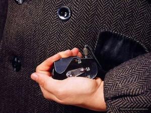 Buttonhole Camera, Model F-21. Circa 1970, KGB. The F-21